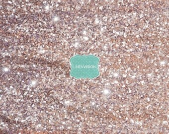 """Fabric by the Yard - Glitz Sequins Fabric - 48"""" Wide Sequin Sparkly Glam Gatsby Mesh Sequin Fabric - Blush"""