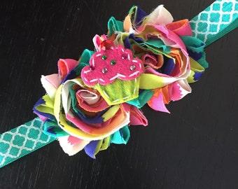 Cupcake party headband