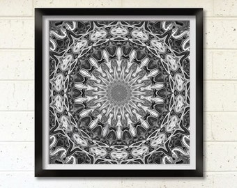 Black and White Mandala, Printable Art, Mandala Wall Art, Wall Decor, Meditation Art, New Age Art Print on Demand,  Australia