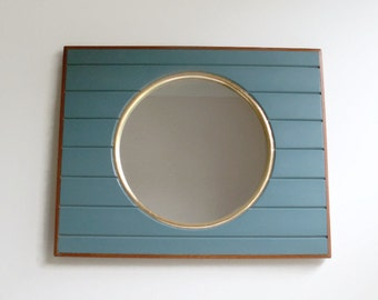 Boat Mirror, Porthole Mirror, Wall Mirror, Handmade Mirror, Beach Decor, Round Mirror, Nautical Decor, Marine Decor, Decorative Wall Mirror