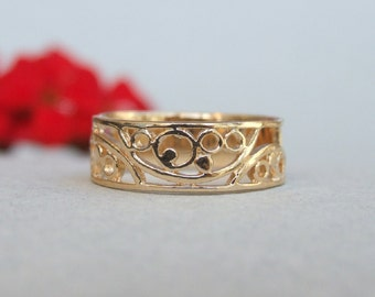 Spirals Ring, 14K Gold Plated Ring