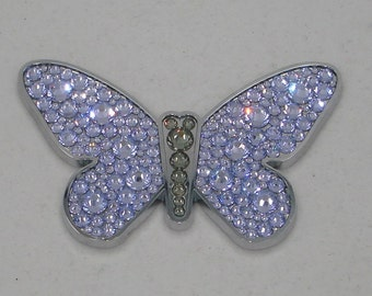 Luxury Butterfly Car chrome ABS Decal 3D sticker Peel and Stick interior or exterior for car or truck w genuine Swarovski Crystals Bling WOW