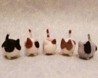 Adorable Needle Felted Kitten, Needle Felted Kitty Family