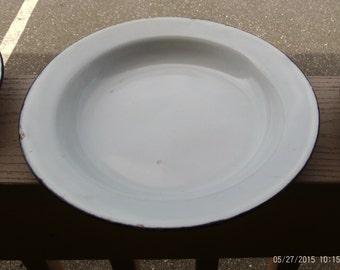 Vintage Enamelware Bowls/Plates Set of 2