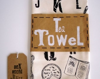 Alphabet of Kitchenalia- Tea Towel