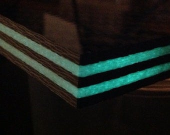 """High Quality Glow in the dark and Carbon Fiber plate 1/2"""" thick, sold per square inch"""