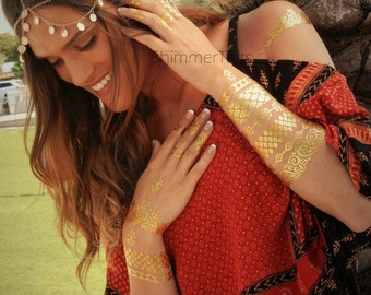 Tribal Armband, Gold Armband, Gold Upper Arm Bracelet, Upper Arm Bracelets, Tribal Gold Upper Armband Upper Arm Band in Gold, Tribal Jewelry