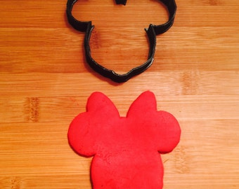Minnie Mouse Cookie and Fondant/Sandwich Cutter, Disney Cookie Cutter,Select Size,Party Supply,Birthday Party,Children Party,Custom