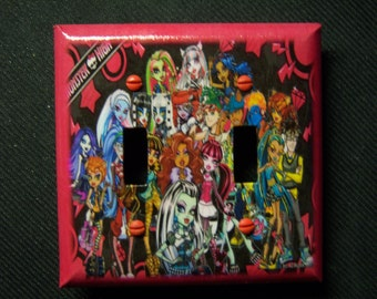 Light Switch Cover Monster High Double Toggle Print