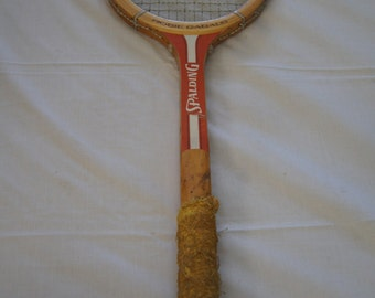Vintage 1980's - Rosie Casals Spalding Racquet  Size 4 and a half