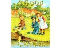 Colmans Mustard English A Good Catch Vintage Advertising Enamel Metal TIN SIGN Wall Plaque