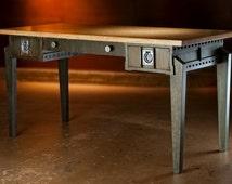 Industrial Style Office Desk, (steampunk)