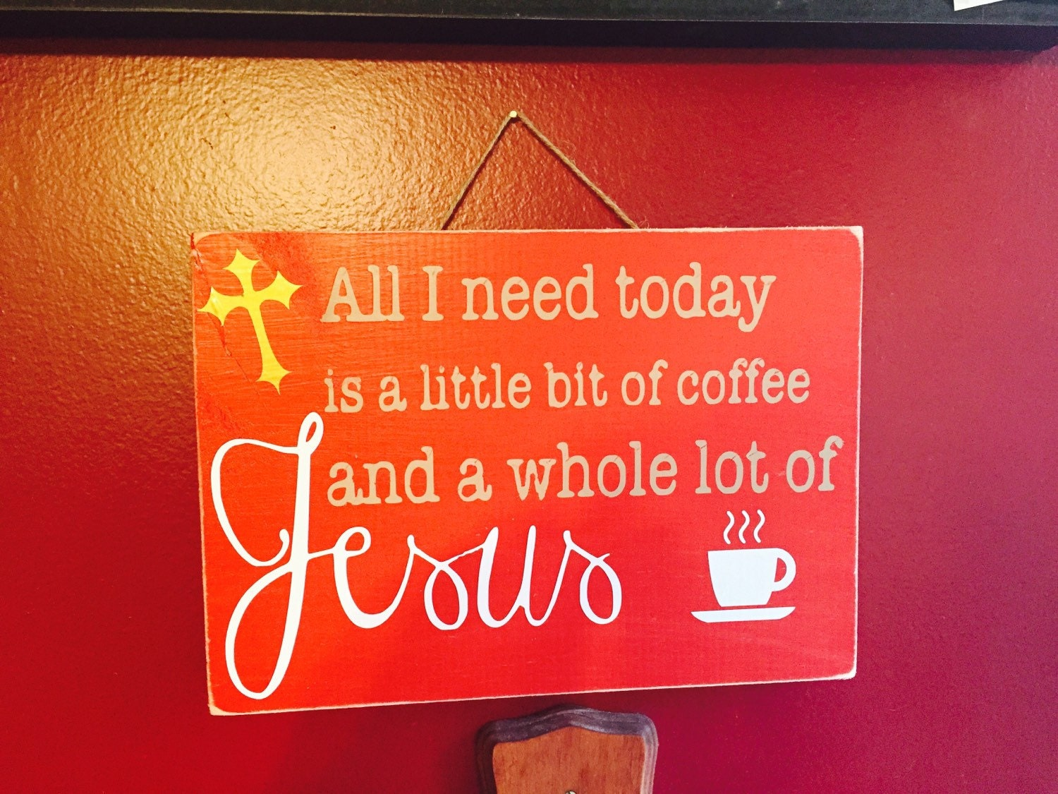 ON SALE Coffee Sign Coffee Decor Coffee Signs Jesus Sign