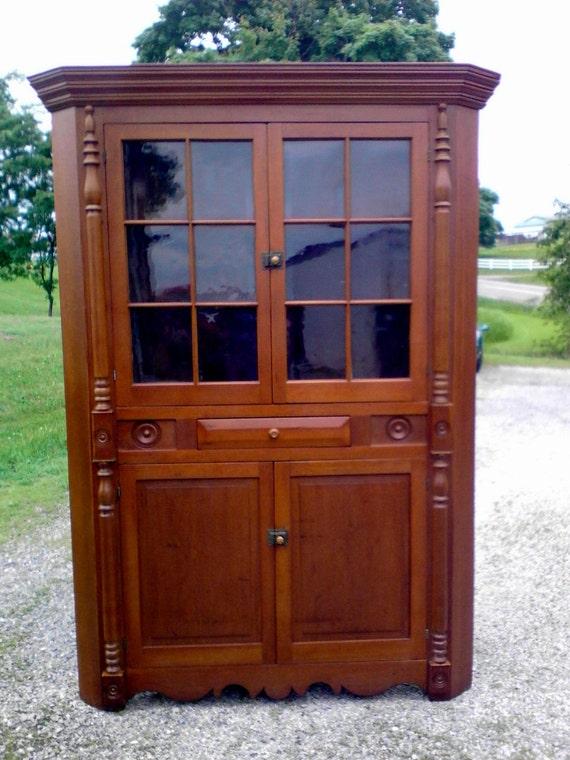 Antique Cherry Corner Cabinet 12 Original by ...