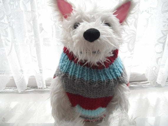 Items similar to dog sweater hand knit, westie, cairn ...