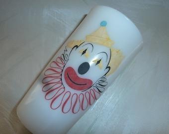 Vintage Hazel Atlas   clown glass