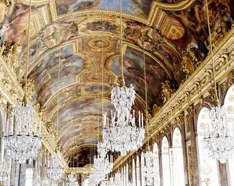 Paris Decor, Versailles Photo, Paris Decor Bedroom, Paris Photography, Hall of Mirrors, Photography, French Home Decor, Paris Wall Art