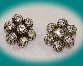 Vintage Rhinestone Earrings Vintage Jewelry Vintage Earrings Designer Earrings Costume Jewelry