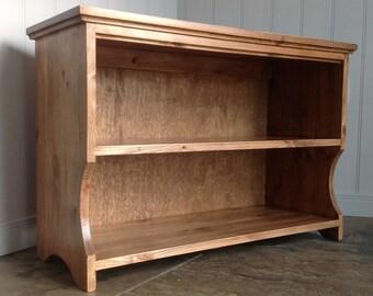 Hall shoe rack bench storage shelf in Antique Pine