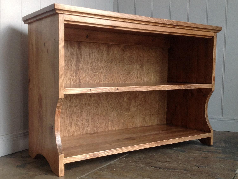 Hall Shoe Storage Shelf Bench In Antique Pine