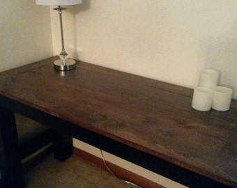 Hand built sofa/accent/entryway table