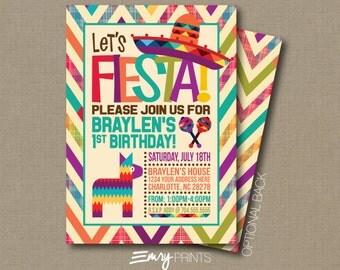 Fiesta Invitation / Fiesta Birthday Invitation / Fiesta Party / 1st Birthday Fiesta / Birthday Fiesta Printable