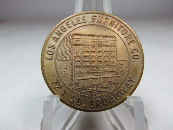 Vintage Token Los Angeles Furniture Co By Collectingbugbytes
