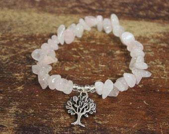 Rose Quartz Tree of Life Bracelet