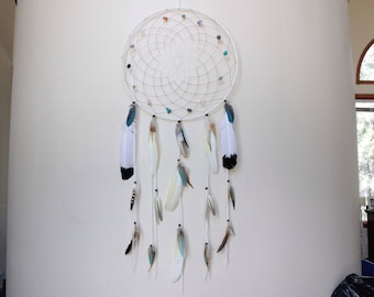 Ophelia Dreamcatcher/Natural Stones/Tribal/Native/Spiritual/Protection/Boho/Hippie/Yoga/Gift/Gypsy/Zen
