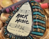 Rock Music Painted Rock