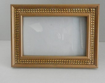 Picture frame, 5x7 Gold picture frame, wedding decoration, table numbers frame, bridemaid gift, rhinestone picture frame