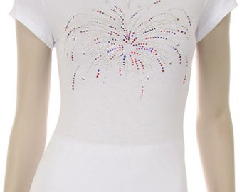 4th of July's Fireworks Rhinestone Shirt