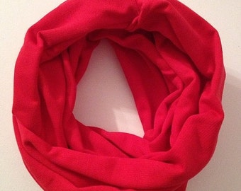 Candy Apple Red Infinity Scarf