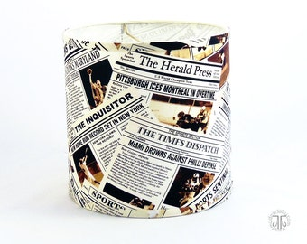 Sports Page Newspaper Print Lamp Shade