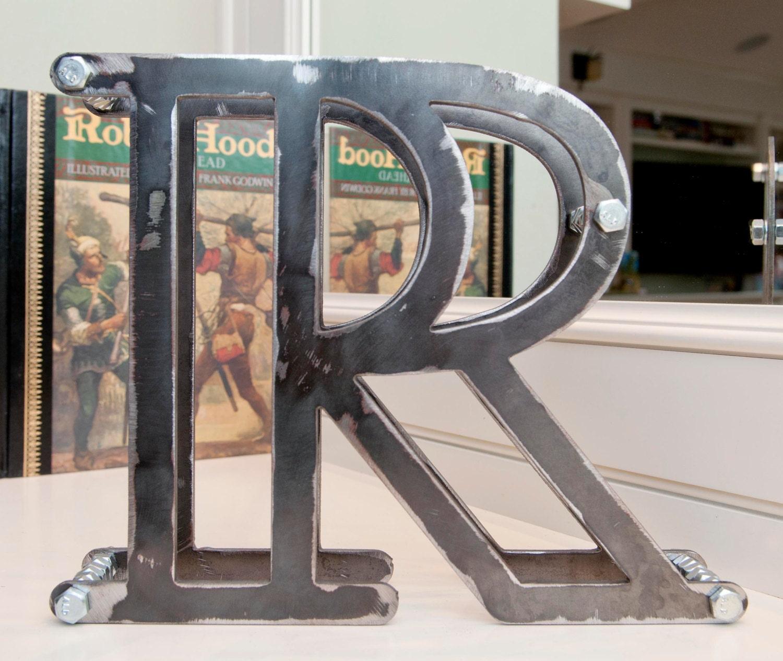 3-d metal letters large 8x10 metal r letter