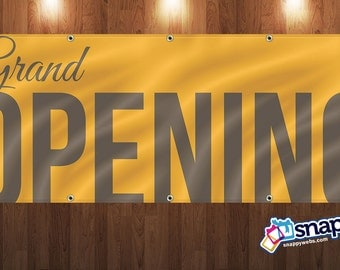 Personalized Grand Opening Vinyl Banner
