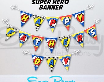Super Hero Father's Day Banner