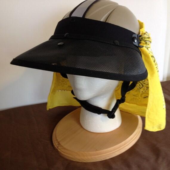 Equestrian Helmet Sun Visor Open Weave Mesh Shades Your Face