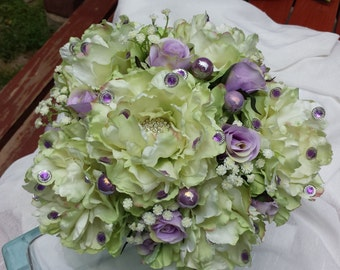 Lime Peony Bouquet!