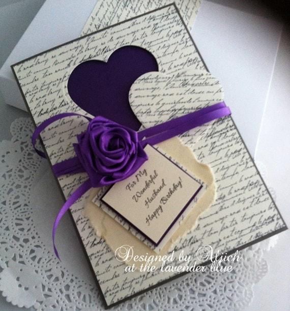 Husband Fiance Birthday Card Handmade Any Occasion