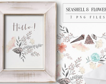 Seashells and Flowers
