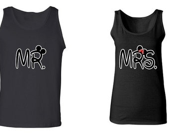Couple Tank Tops - Mr & Mrs - 2 Couple Matching Love Tank Tops