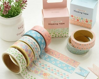 NEW Korean Masking Tape Box From PARIS (One set for 2 tapes collection)/PAPER Tape set/Deco Tape/washi tape set/washi tape lot