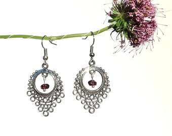 Red garnet jewel, red gemstone earrings, natural jewel, red gem earring, natural gem jewel natural gemstone jewel natural garnet earring syn
