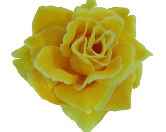 Was 8 now 5** Yellow Single Rose Clip