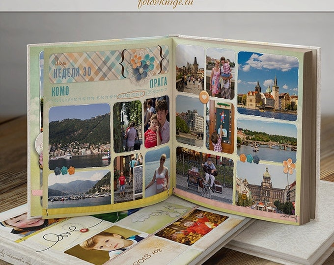 PHOTOBOOK - Our happy year - sale photo book - Photoshop Templates for Photographers. 12x12 Photo Book/Album Template