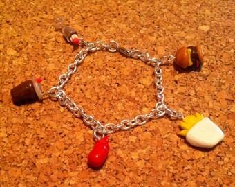 Fast food charm bracelet