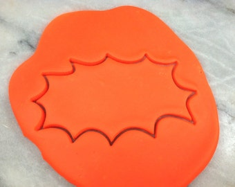 Comic Book Pow Cookie Cutter Outline - CHOOSE Your OWN SIZE - Fast Shipping!