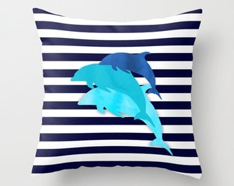 Dolphin Pillow Etsy