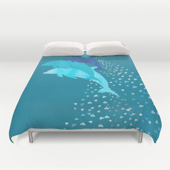 Dolphins Duvet Cover Queen King Full Double Bed Decor Home